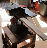 planer from infeed side