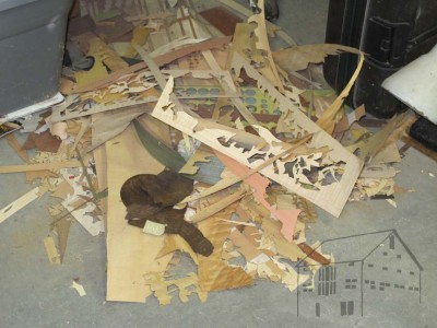 Somehow I found this pile of marquetry  scraps to be visually captivating